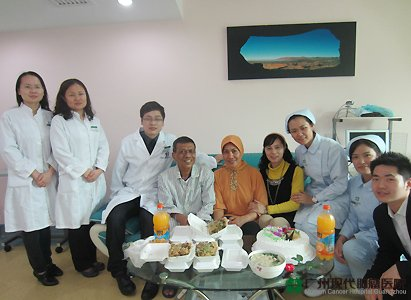 colorectal cancer, birthday celebration, Modern Cancer Hospital Guangzhou