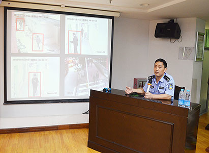 Modern Cancer Hospital Guangzhou invited policeman to Train Safety Precaution