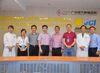 Prof. Deng Yixiong of National University Hospital visited St. Stamford Modern Cancer Hospital Guangzhou*