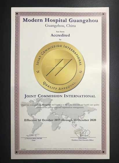 JCI, JCI re-accreditation, St. Stamford Modern Cancer Hospital Guangzhou